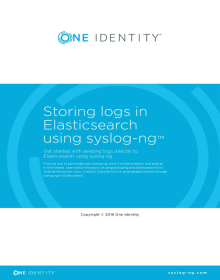Storing logs in Elasticsearch using syslog-ng