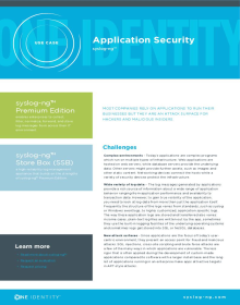 Use Case – Application Security