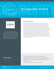 Customer reference: The University of Exeter